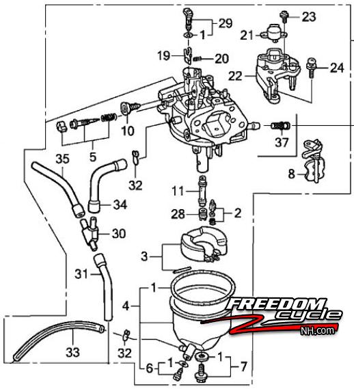 Honda Eu3000is1 Eu3000 Is 1 Generator Carburetor Type An Ac 16100