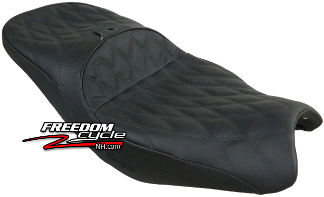 Details about 08-19 KAWASAKI CONCOURS 14 1400 CORBIN CANYON DUAL SPORT SEAT  SADDLE BLK LEATHER